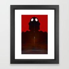 Iron Red Framed Art Print