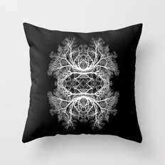 The Giving Tree - Black Throw Pillow