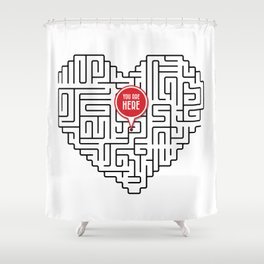 Finding Love II Shower Curtain