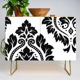 Decorative Damask Art I Black on White Credenza