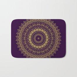 Harmony Circle of Gold on Purple Bath Mat