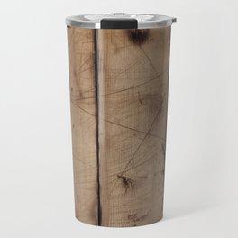 Burnt WoodGrain Travel Mug