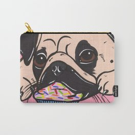 Pink Cupcake Pug Carry-All Pouch