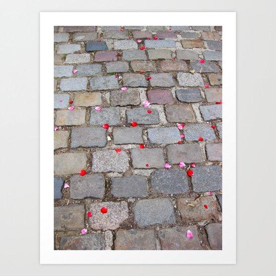 Rose Petals, Parc de Belleville, Paris Art Print