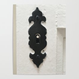 Keyhole in black and white Poster