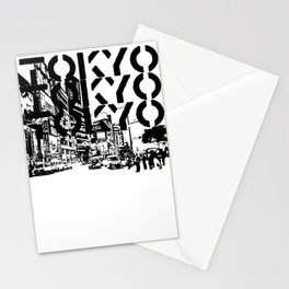 Tokyo Japan Black White Stationery Cards