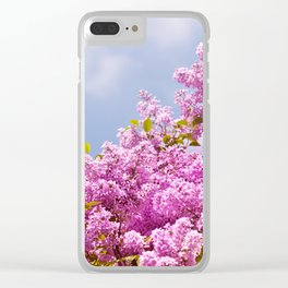 Lilac vibrant pink bunches Clear iPhone Case
