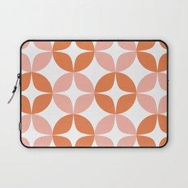 Mid Century Modern Motif Pattern in Burnt Orange and Blush Laptop Sleeve