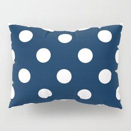 Polka Dots - White on Oxford Blue Pillow Sham