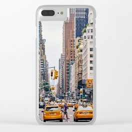 New York Street 1 Clear iPhone Case