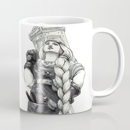 "Inktober 2017 #4 ""Mighty dwarfish woman"" Coffee Mug"