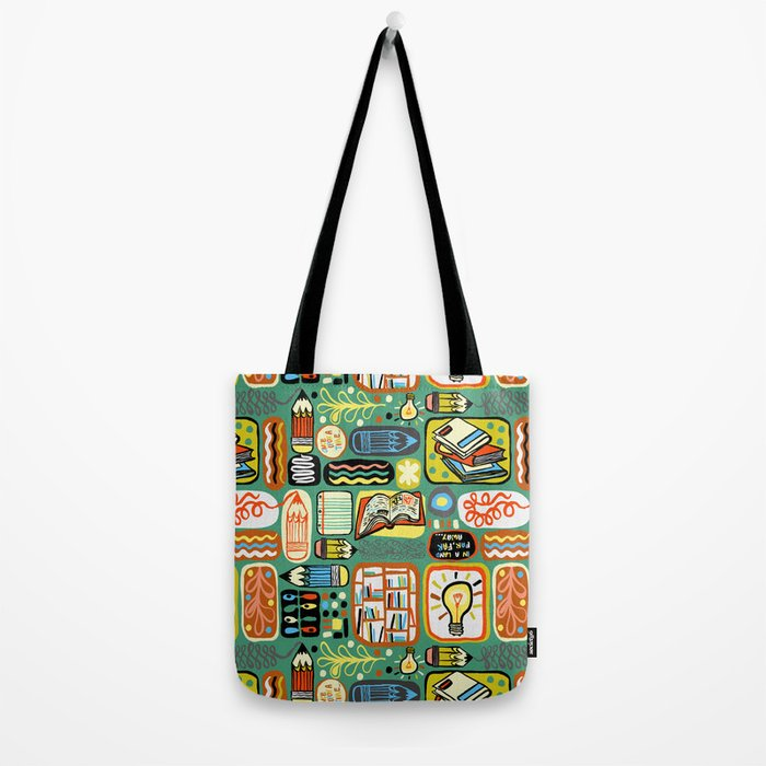 Reading and Writing Tote Bag