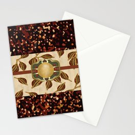 African Seed Pod Obi Print Abstract Stationery Cards