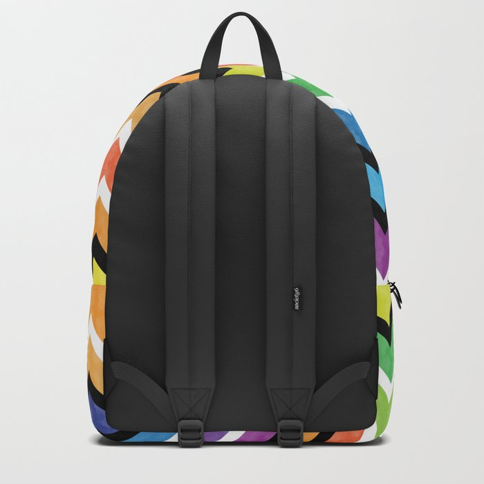 Watercolor Chevron Pattern VI Backpack