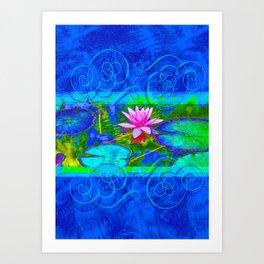 Lotus Blossom Blues Art Print