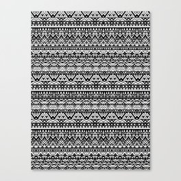 African black and white ethnic pattern Canvas Print