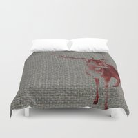 stag Duvet Covers featuring Stag by Axiomatic Art