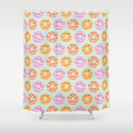 Kawaii Party Rings Biscuits Shower Curtain
