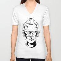 frankenstein V-neck T-shirts featuring Frankenstein by Diseños Fofo