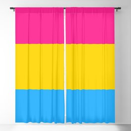 Symbol of Pansexuality or Omnisexuality Blackout Curtain