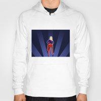 supergirl Hoodies featuring Supergirl by livinginamovie