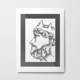 Bust of a King Metal Print