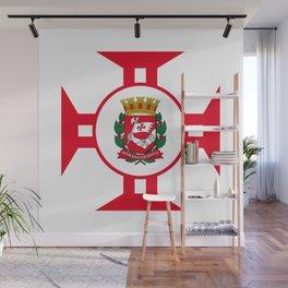 Flag of Sao Paolo -  Non ducor, duco Wall Mural