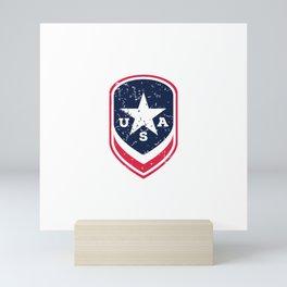 Land Of The Free Shield Mini Art Print