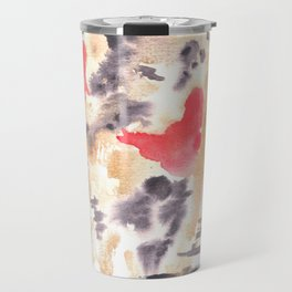 Watercolor Pink Black Flow | [dec-connect] 9. brewing Travel Mug