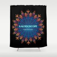 book cover Shower Curtains featuring Kaleidoscope Art Book Cover by Sam Skyler
