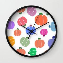 colorful pumpkin Wall Clock