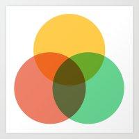 YellowRedGreen Art Print