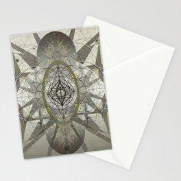 Star Fire Ancient Sacred Geometry Mandala Print Stationery Cards