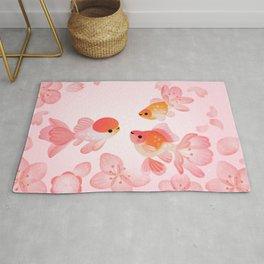 Cherry blossom goldfish Rug