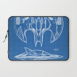 Batwing Patent - Bat Wing Art - Blueprint Laptop Sleeve