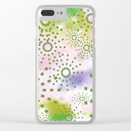 Candys Hippie Design 4 Clear iPhone Case