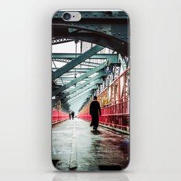 New York City Williamsburg Bridge in the Rain iPhone Skin