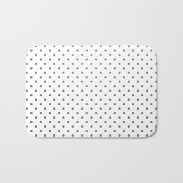 Dots (Gray/White) Bath Mat