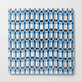 Plaid - Slither Blue Metal Print