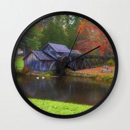 Mabry Mill in Virginia Wall Clock