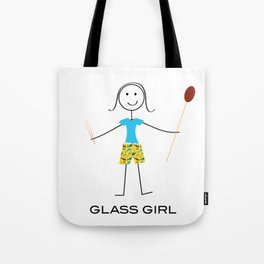 Funny Womens Glassblowing Girl Tote Bag