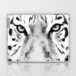 White Tiger Print Laptop & iPad Skin