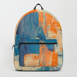 Tell me, what do you see in this picture? Backpack