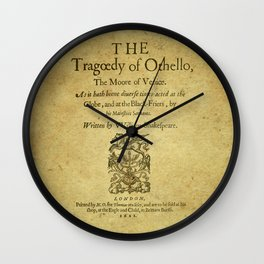 Shakespeare. Othello, 1622. Wall Clock