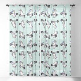 OLYMPIC LIFTING Unicorn Sheer Curtain
