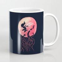 kraken Mugs featuring Kraken by Freeminds