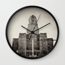 Down Town Buffalo NY city hall Wall Clock