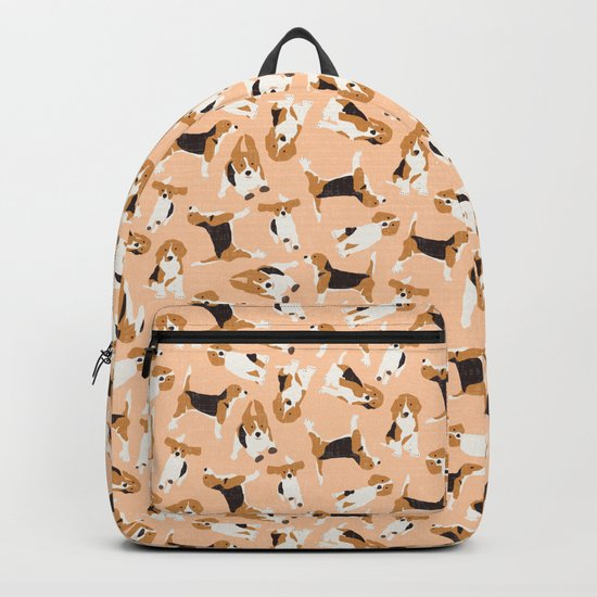 beagle scatter peach Backpack