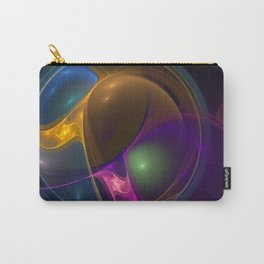Energy, Colorful Abstract Fractal Art Carry-All Pouch