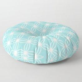 Abstract Circle Dots Mint Floor Pillow